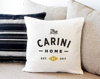 Housewarming Gift, Custom Pillow, Name Pillow, Home Decor, Throw Pillow, Cushion Cover, Throw Pillow Covers, Decorative Pillow, 18X18 Pillow