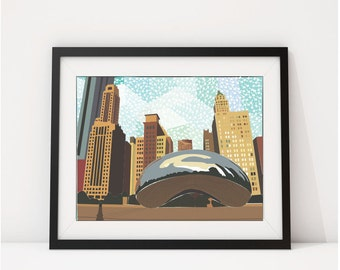 ChicagoIsh: Chicago Wall Art, Chicago Print, Chicago Decor,Chicago Art, Wall Art, Art Print, Chicago
