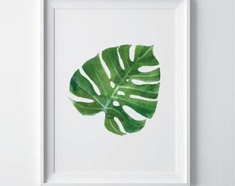 Fern wall art, Botanical printable, watercolour decor, botanical decor, botanical download, instant download, botanical wall art