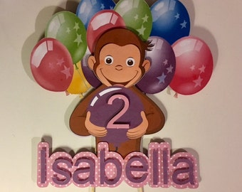 Curious George Cake Topper /Personalized/ Girl