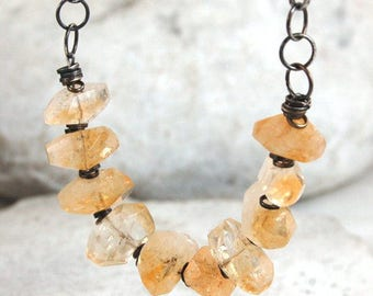 SALE 15% off !! - use the coupon code: SALE15  citrine silver necklace