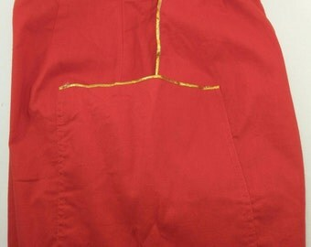 Vintage red trousers pants 80's