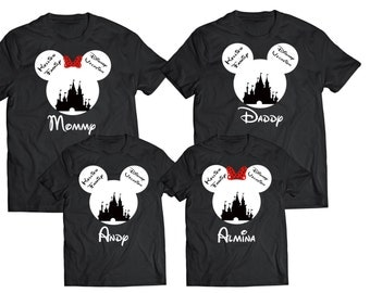 Disney Family Shirts   Disney Shirts  Mickey and Minnie Head   Custom Disney Trip Shirt I Cruise