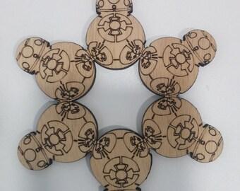 BB8 Laser Cut  Star Wars Ornament