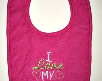I love my Glamma custom embroidered bib