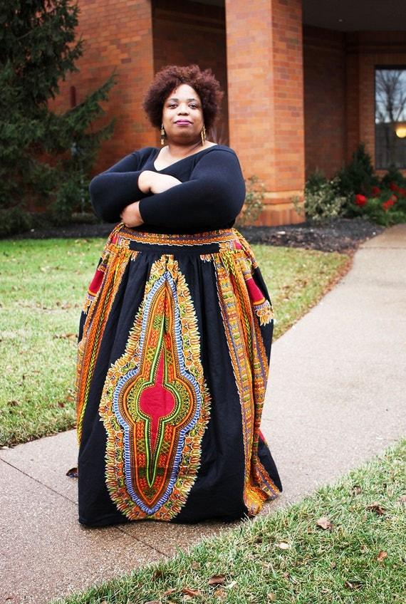 authentic dashiki plus size african maxi skirt plus size