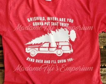 Christmas Vacation Big Tree Family Truckster Tee Shirt Clark Griswold National Lampoons Margo Todd