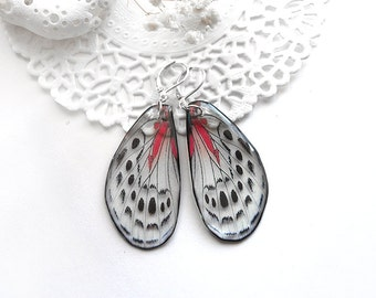 Wife gift for mum jewelry butterfly earrings fluttering earrings Animal jewelry wife silver earrings Holiday gift for mother daughter gift