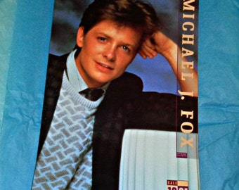 Extremely Rare Michael J. Fox 1991 Copyright Approved Vintage Calendar Film Memorabilia Hard To Find Glossy Cover Culture Shock Collectable