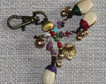 Keyring: with multicolors pendants.EP4