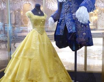 Custom made - Beauty and The Beast 2017 Movie - Yellow ball dress/  Belle dress