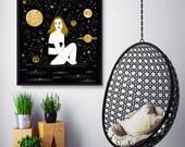 Meteor Shower, Wall Art Prints, Modern Decor, Black and White Prints, Wall Decor, Wall Prints, Home Decor.