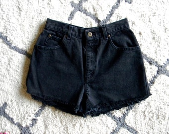 Black High Waisted Cutoffs