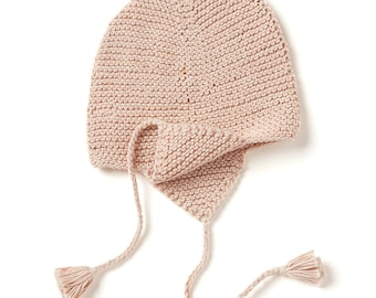 Bonnet Pointy Hand-Knitted Organic Cotton