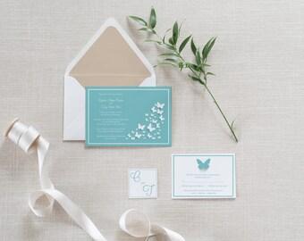Butterflies Wedding Invitation Set
