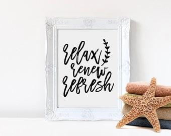 Relax Refresh Renew Etsy