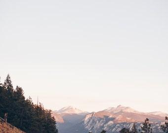 Denver, Colorado, Estes Park, National Parks, Landscape, Pink, Vintage-Inspired, Fine Art, Photograph, Wall Art, Print, Travel Photograph