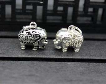 Sterling silver Elephant charm, sterling silver Elephant pendant,Elephant necklace pendant, Elephant jewelry