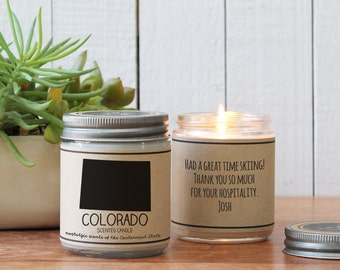 Colorado Scented Candle - Homesick Gift | Feeling Homesick | State Scented Candle | Moving Gift | College Student Gift | State Candles