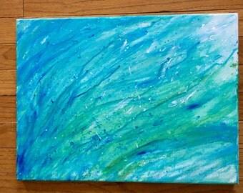 Acrylic Water Streaks Painting