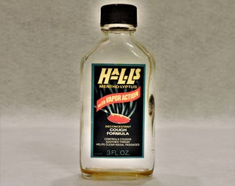 Vintage Bottle - Hall's Mentho-Lyptus Cough Syrup
