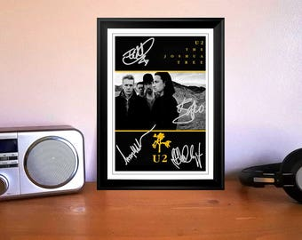 Bono U2 The Joshua Tree 1987 UK Promo Concert Tour Flyer Autographed Signed Photo Print