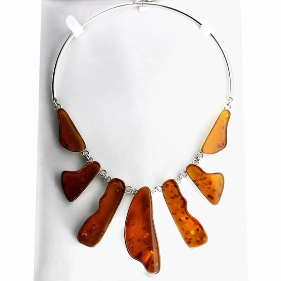 large gemstone necklace cognac necklace luxury