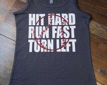 Baseball Mom Shirt - Softball Mom Shirt- Hit Hard Run Fast Shirt - Baseball Raglan - Softball Raglan - Baseball Shirt - Woman's Clothing