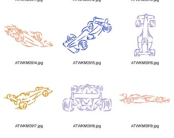 Outline-Racing-Cars ( 10 Machine Embroidery Designs from ATW )