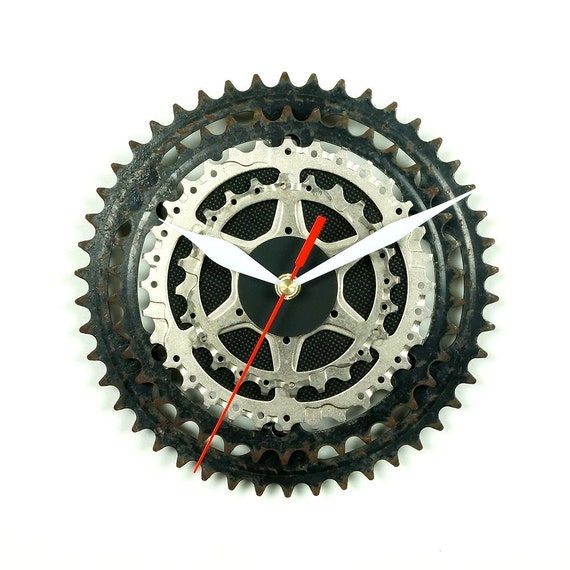 Bike Design Wall Clock : Bicycle wall clock bike unique cyclist gift