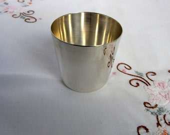 Antique Silver Plated Beaker / 1912 / Gero / Dutch /  Cup / Shot / Silver Plate Cup / Silver Shot / Shooting Cup / Shot Glass / Gerofabriek