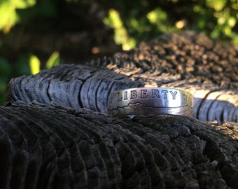 Incuse Indian silver 1/4 oz. round coin ring