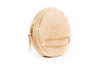 Veg Tanned Leather / Small Leather Clutch / Small leather pouch  / vegetable tan leather bag