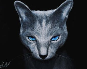 Realistic cat drawing
