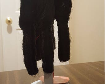 "Beautiful Vintage Monique Jullien 3 Black 8-9"" Doll Wig"