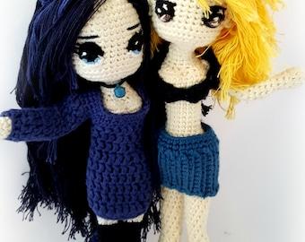 """Anime-inspired crochet Doll """"Manga"""" - custom doll"""