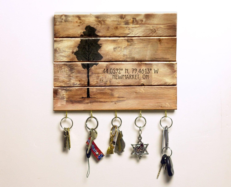 key rack organizer wall keyholder key rack rustic key. Black Bedroom Furniture Sets. Home Design Ideas