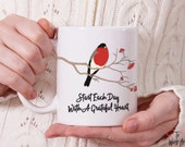 Start Each Day With A Grateful Heart Ceramic Mug 11 oz. Designed on Both Sides