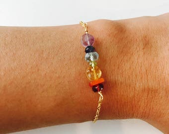 Yoga Bracelet Chakra Bracelet Healing Bracelet 7 chakra Bracelet Boho Bracelet Genuine gemstone Bracelet