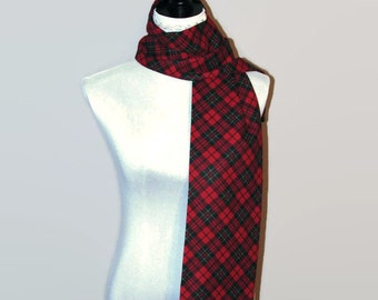 Tartan scarf Plaid scarf Tartan plaid scarf Gift scarf sister Flannel scarf Women scarf Neckwarmer Xmas gift-for-sister Gift-for-her