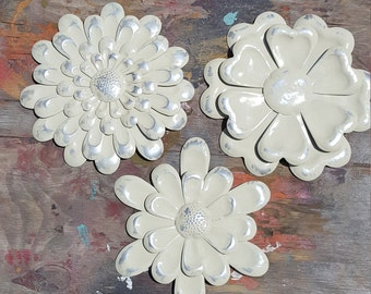 Metal Wall Art Flowers large metal flower wall art garden flower wall decor metal