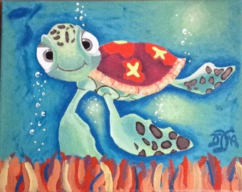 Acrylic Painting Inspired by Finding Nemo