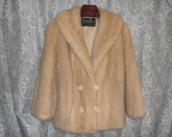 Mink Jacket Size M PETITE