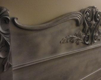 1800's Antique Queen - Full Oak Headboard