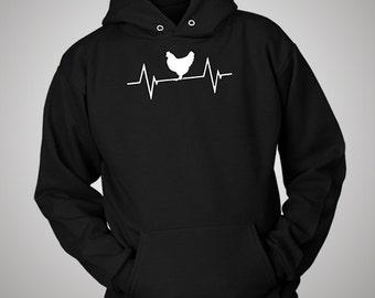 Chicken Coop Heartbeat Hoodie