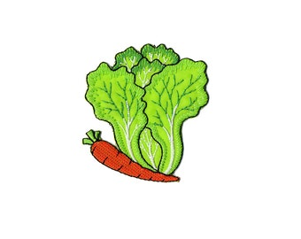 Vegetable Patch - Vegetable, Chinese Cabbage Embroidered Iron on Patch / Vegetable Applique
