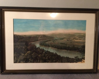 Vintage Colorized Photo - Susquehanna River in Wyalusing PA