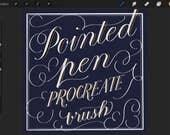 Procreate Spitzen Stift Pinsel für Kalligrafie & Schrift