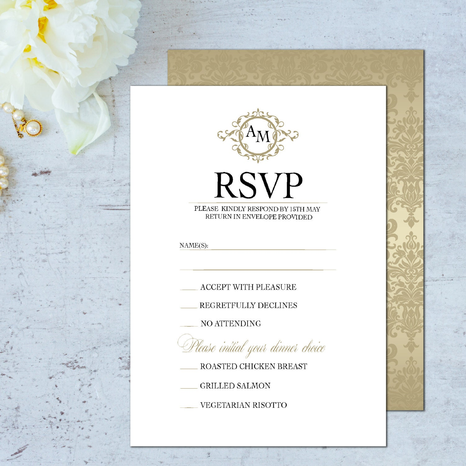 Wedding Invitation Response Cards: Wedding Rsvp Card Wedding Rsvp Cards Classic RSVP Cards