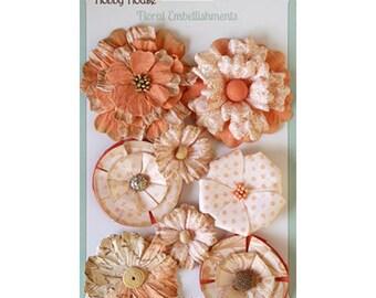 Floral Boutique Peach Paper Flowers